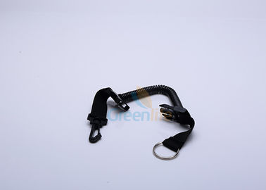 China Bungee Swimming Quick Release Coil Lanyard Tether 1.2M Coil Abrasion Resistant supplier