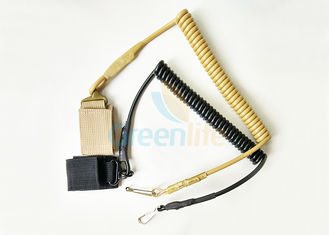 High Security Elastic Weapon Retention Lanyard , Custom Pistol Retention Lanyard