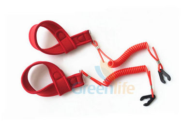 China Outboard Motor Coiled  - Style Kill Cord Lanyard With Soft Wrist Band supplier