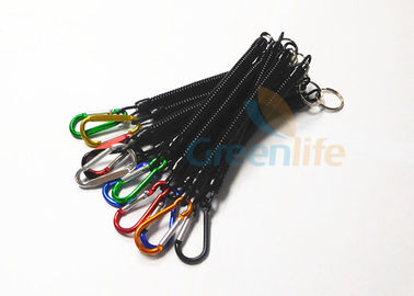 China Colored Aluminum Fishing Pliers Lanyard Carabiner Attach Anti - Lost Black supplier