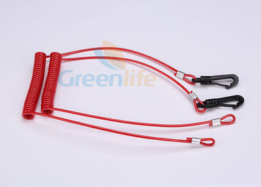 China Extendable Jet Ski Lanyard For Emergency , Jet Logic Lanyard Plastic Clip End supplier