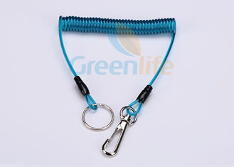 China Spring Steel Coil Tool Lanyard 0.5 Inches Quick Release For Working At Height supplier
