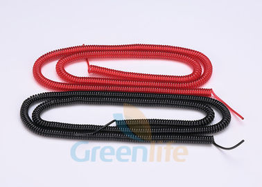 China Transparent Red / Black Retractable Fishing Lanyard Custom Strong Cables 10 Meter supplier