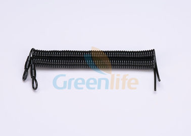 China Heavy Duty Customized Flexible Coil Lanyard , Cord Loop Tool Safety Lanyards supplier