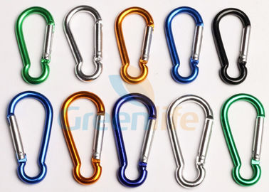China Safety Lanyard Accessories Aluminum Locking Carabiner Easy Open Eco - Friendly supplier