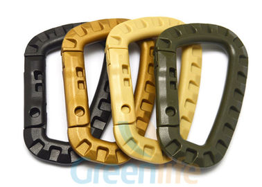 China Army Green Plastic Big Snap Hook Carabiners Customized Bone Shape 85 * 56mm supplier