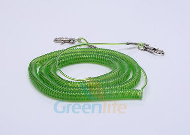 China Security Expanding Fishing Rod Leash , Transparent Safety Tool Lanyards supplier