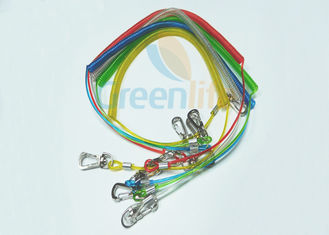 China Colorful TPU Coated Paddle Leash For Kayak Braided Steel Fishing Spring Tethers supplier