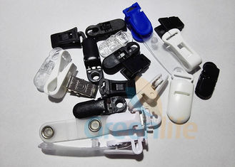China Plastic ABS Safe Pacifier Suspender Clips Strap Clips Lanyard Accessories Black / White / Blue supplier