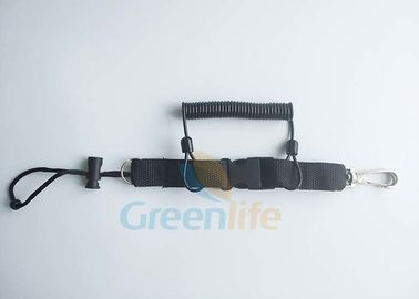 China Protection Diving Spiral Cord And Webbing Belt With Snap Hook & String Loop Combo supplier