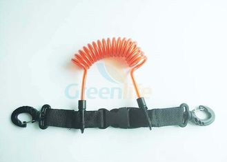 China Quick Release steel tethering cable Scuba Diving Missed Rope With Buckle & Hook supplier
