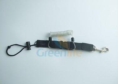 China Innovative Original Snappy Coiled Lanyard Cord Transparent Color With Wire Cable Inisde supplier