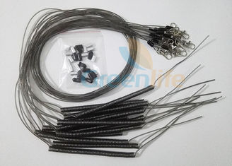 China Elastic Wire Coil Leash 1M Uncoiled Length With 50CM Straight Tail & Swivel Hook supplier