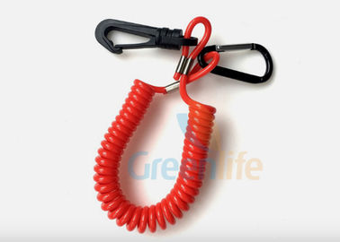 Floating Ultra Watercraft Jet Ski Safety Lanyard Tether 15CM Long With Plastic Hook / Carabiner