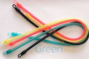 China Stretchable Plastic Spiral Key Holder Translucent Colors Customized Length supplier