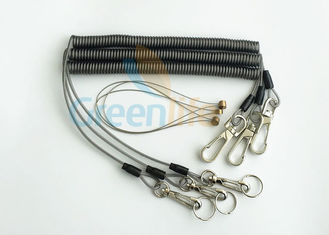 China Security Rope Wire Retractable Coil Cord Fall Protection For Tools , 3 Meter Max Stretch supplier
