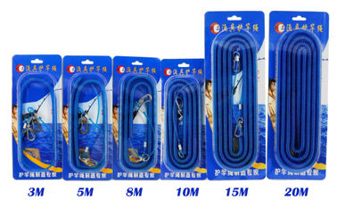 China Real Steel Coil Blue Fishing Spring Coil Lanyard PU Material With Different Length supplier