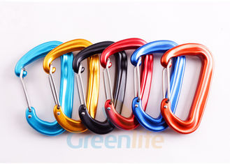 China D Shape Snap Hook Carabiner Aluminum 7075 Material Good Accessory For Lanyards supplier