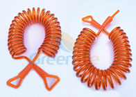 China Orange Wire Coiled Toddler Safety Harness Hand Touch With New Style Connectors factory