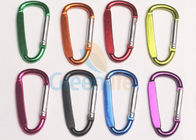 China Promotional Aluminum Carabiner Clips , Silver Pole Personalized Carabiner Keychain factory