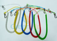 China Retractable Long Coiled Fishing Tool Lanyard , Fall Protection Fishing Rod Leash factory