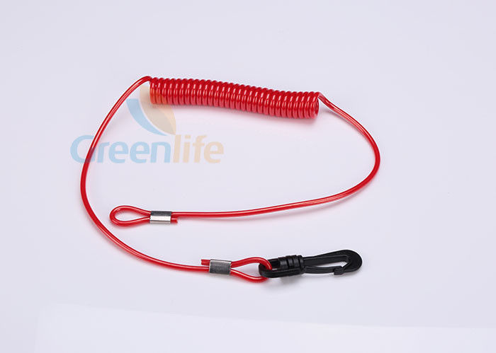 Key Floating Jet Ski Safety Lanyard Kill Cord Tether Long Tail On Two Sides