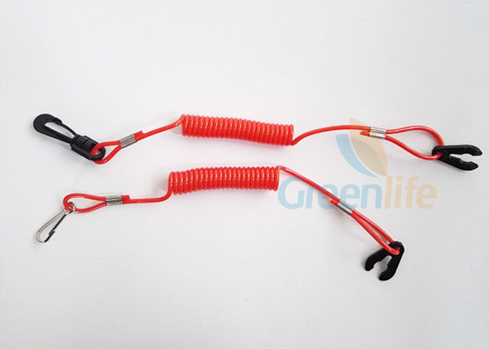 Universal Red Jet Ski Safety Lanyard For Outboard Motors Floating Wave Runner