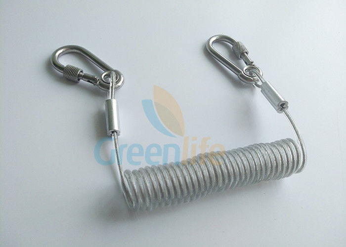 Retractable Stretchy Transparent Coiled Tool Lanyard Safety