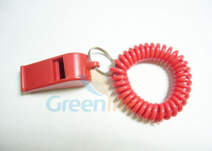Key Holders Sport Whistle Coiled Wrist Key Chains Flat Weld Light - Weight