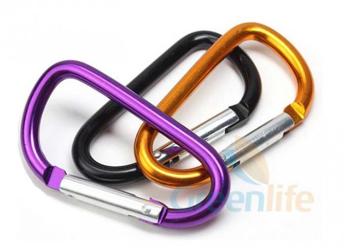 Colored Beauty D Shape Snap Hook Carabiner 5CM Standard Electronic Plating
