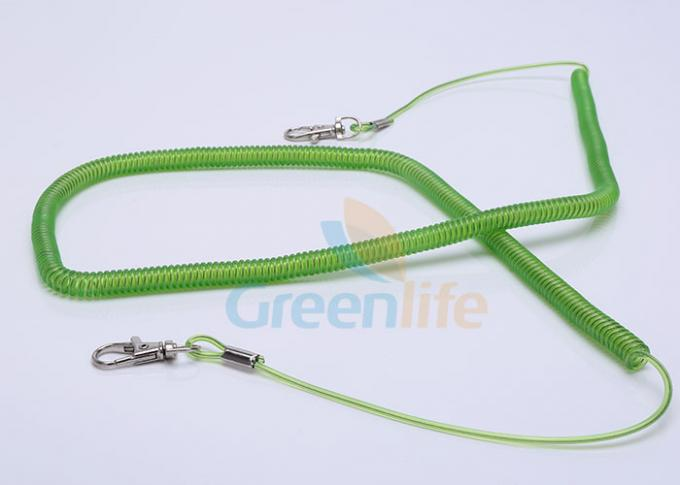 Security Expanding Fishing Rod Leash , Transparent Safety Tool Lanyards