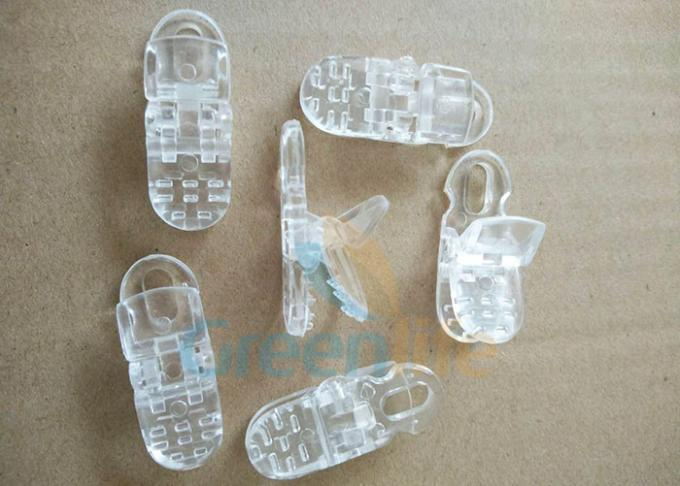 Transprent Clear Lanyard Accessories Plastic PC alligator Clip Hat Fastening Connectors