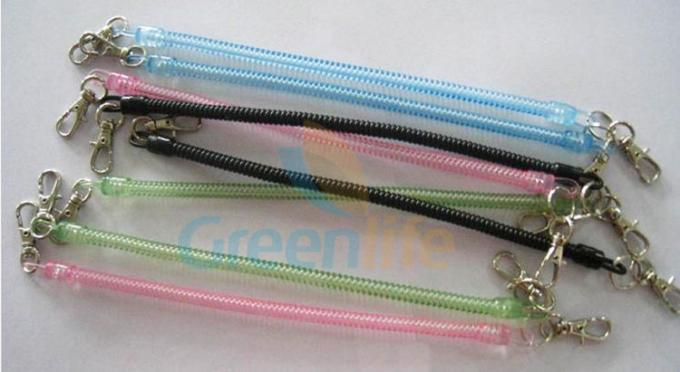 Stretchable Plastic Spiral Key Holder Translucent Colors Customized Length