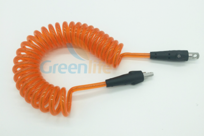 Orange Coil Tool Lanyard 1.5M Retracted Long For Safety Scaffolding