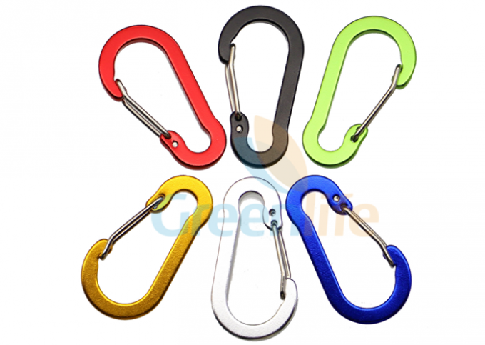 Flat Gourd Shape Colored Fast Clip Carabiner Snap Hook Customized Size Multi - Usage