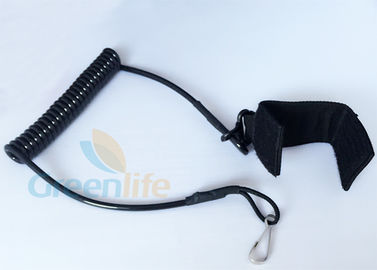 China Black Nylon Strap Pistol Retention Lanyard 4.0MM Diameter Cord For Firearms factory