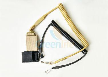 China High Security Elastic Weapon Retention Lanyard , Custom Pistol Retention Lanyard factory