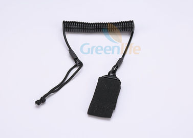 China Police Retention Device Coiled Security Tethers , Tactical Pistol Sling With Belt  factory