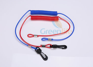 Red / Blue Jet Ski Safety Lanyard Cut - Out  Cord For Watercraft 3.5MM