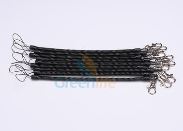 China Slim TPU Tubing Plastic Coil Lanyard , Spiral Spring Coil Lanyard On Key Chains distributor