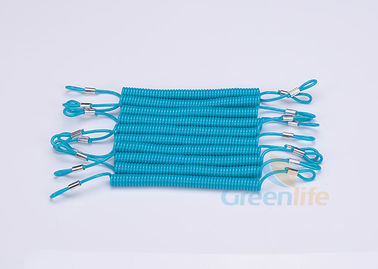 China Multi - Purpose Coiled Security Tethers , Changable Loop Ends Hand Tool Lanyards distributor