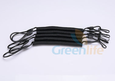 China Hand Gun Tactical Pistol Lanyard Elastic Spring Attach To Duty Belt Combat Vest factory