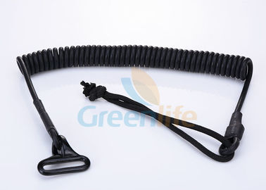 China OEM Expanding PU Coated Tactical Pistol Lanyard String Loop Spring Sling factory