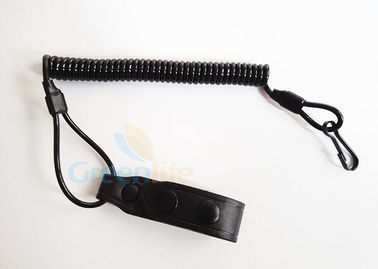 Leather Belt Loop Tactical Pistol Lanyard Coiled Customized Full Extension