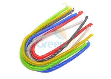 China Colorful Wire Steel Custom Coiled Cable Without End Fitting Extend 8 Meter distributor