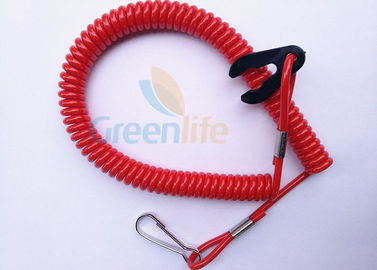 China Red Safety Durable Jet Ski Safety Lanyard 1.2 Meter Fit All Motor Brands factory