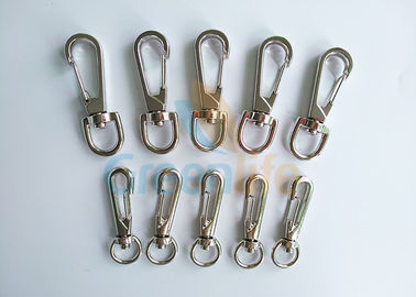 China Standard Big / Middle Zinc Alloy Snap Hook Holders Clips For Attaching Coil Lanyards distributor
