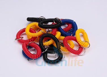 Split Ring Flat Weld Plastic Wrist Coil Badge Accessories Various Colours