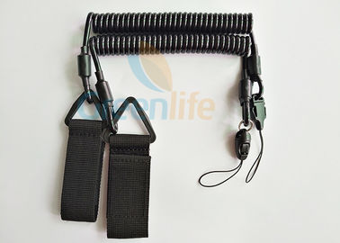 China Police Equipment Plastic Retention Lanyard Handy Tool Secure Pistol Dropping distributor