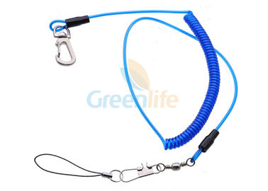 China Strong Coil Retractable Tool Tether PU Coat 1.5M Multi Purpose Full Internal Stainless Steel distributor